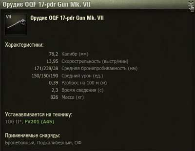 Орудие танка FV201 (A45) в World of tanks