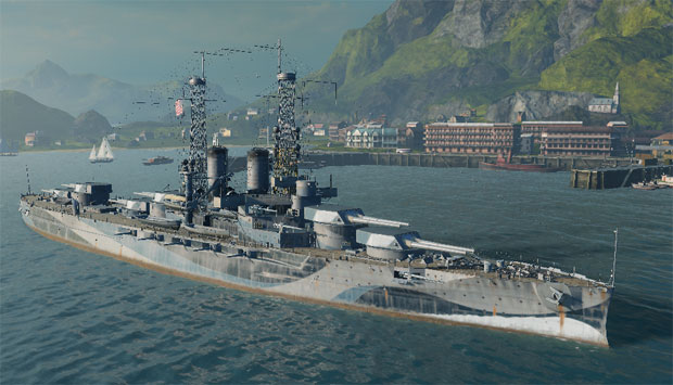 Линкор Арканзас в World of warships