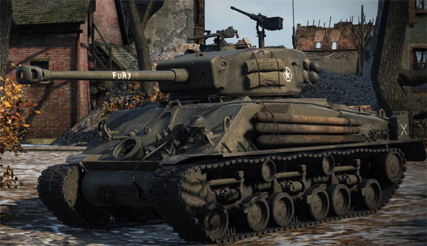 Танк M4A3E8 Sherman Fury в World of tanks